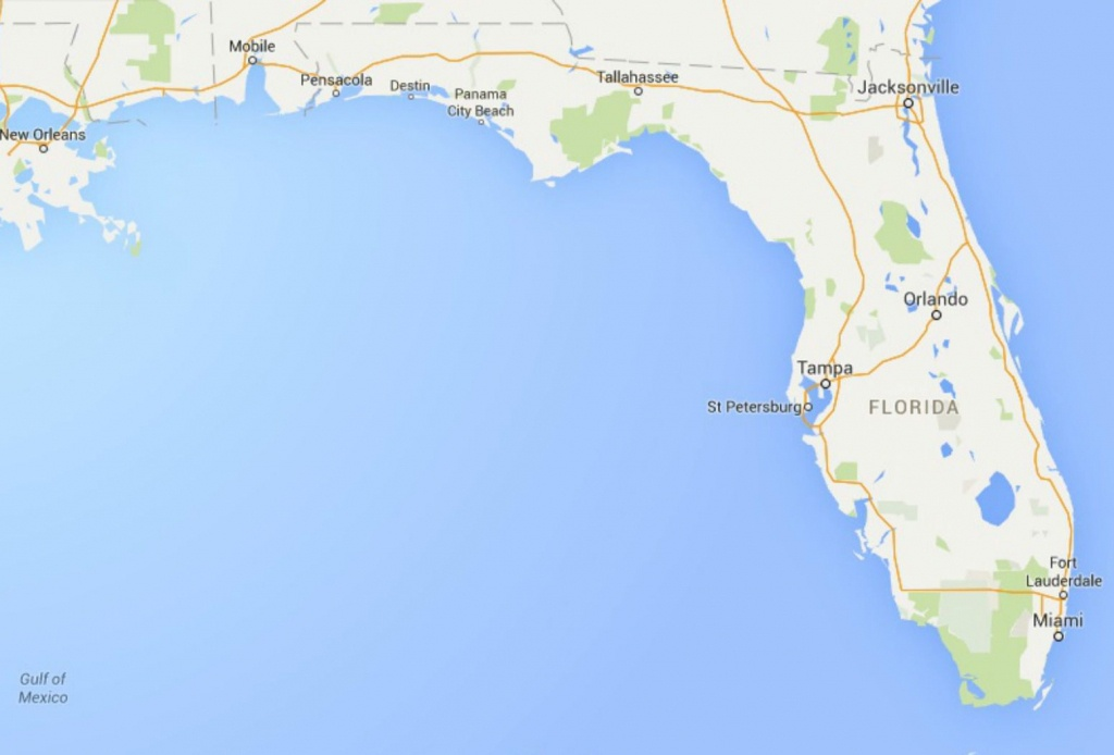 Maps Of Florida: Orlando, Tampa, Miami, Keys, And More - Google Maps Pensacola Florida