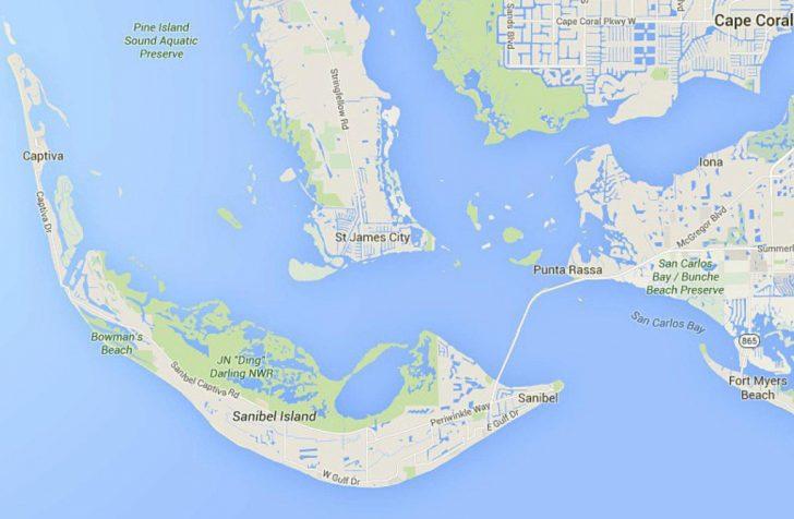 Sanibel Florida Map