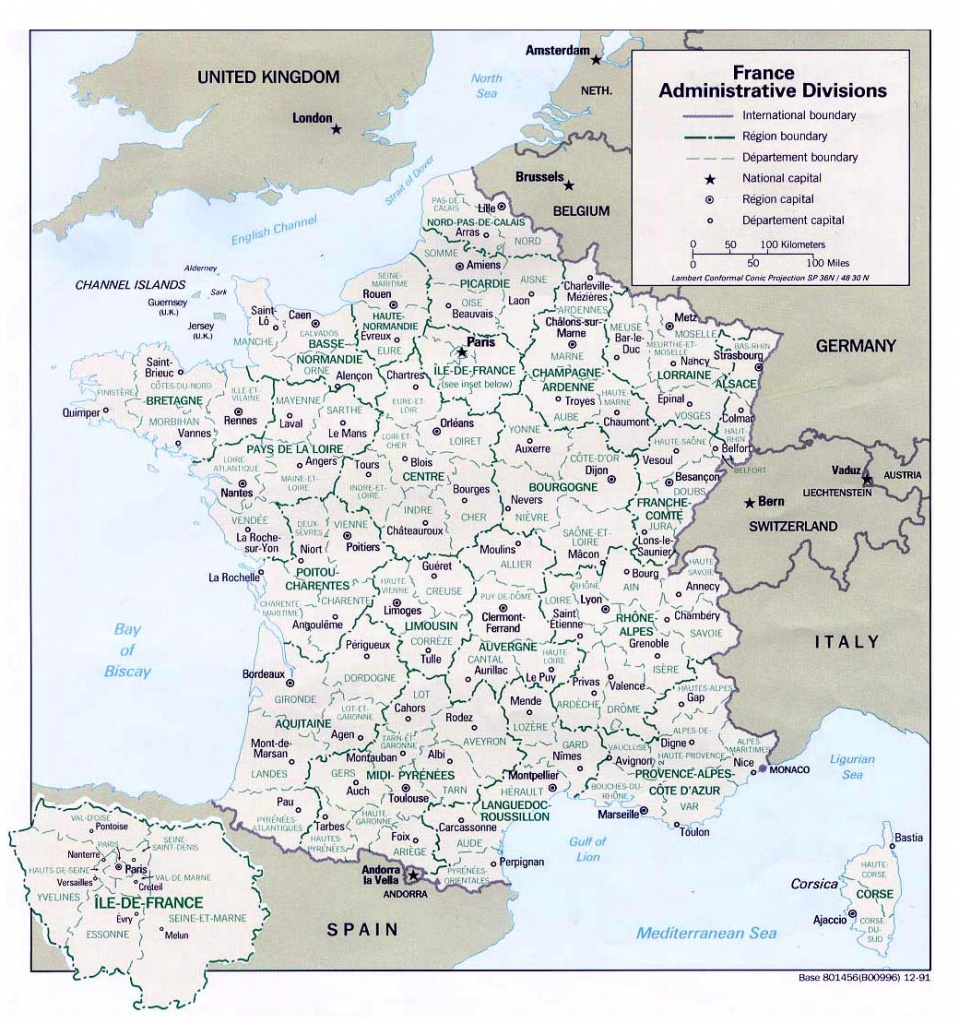 Maps Of France   Detailed Map Of France In English   Tourist Map Of - Printable Map Of France Regions