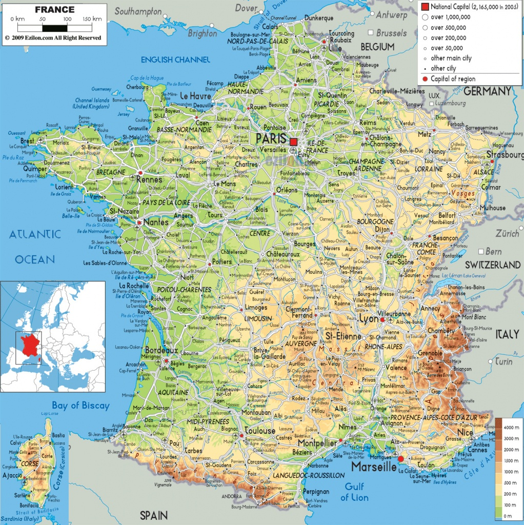 Maps Of France | Detailed Map Of France In English | Tourist Map Of - Printable Road Map Of France