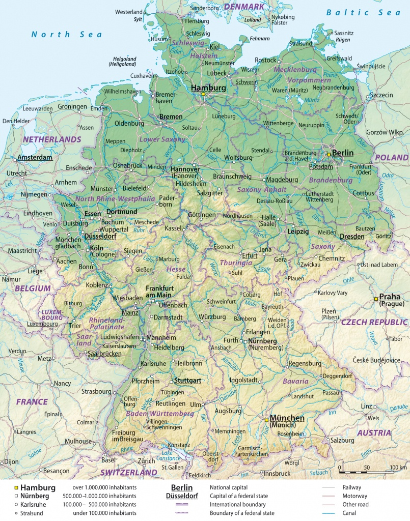 Maps Of Germany | Detailed Map Of Germany In English | Tourist Map - Printable Map Of Germany With Cities And Towns