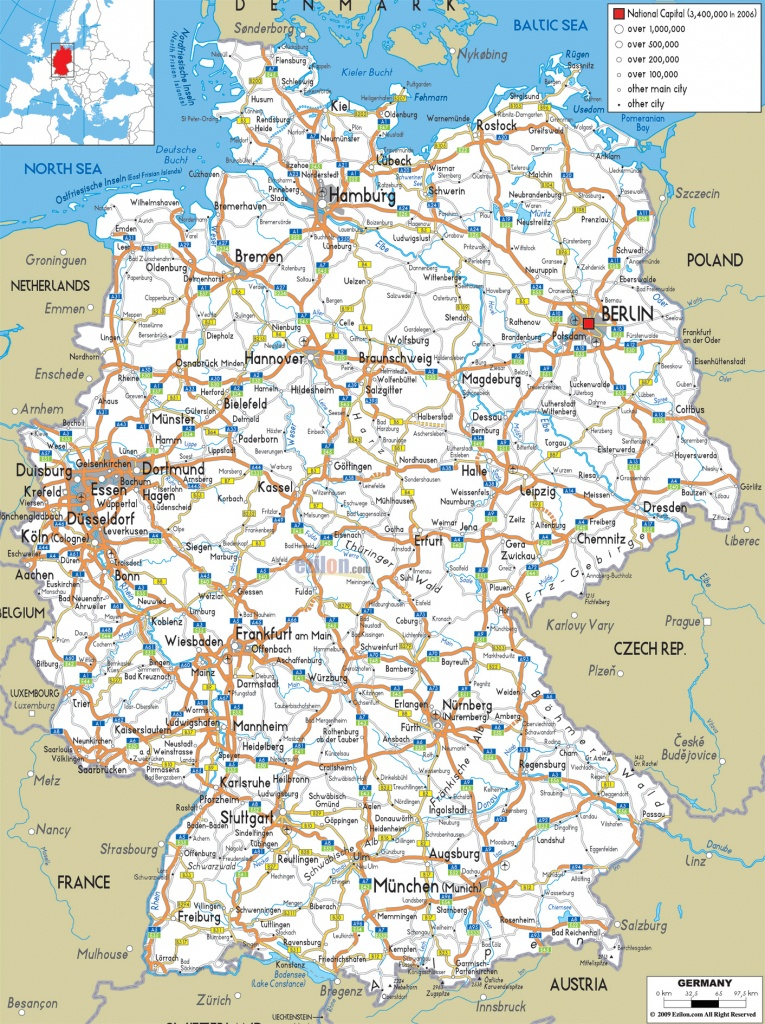 Maps Of Germany | Detailed Map Of Germany In English | Tourist Map - Printable Map Of Germany