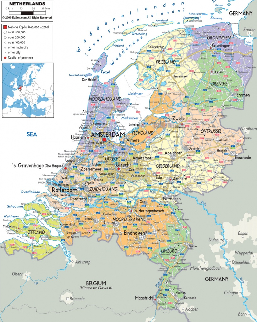 Maps Of Holland | Detailed Map Of Holland In English | Tourist Map - Printable Map Of The Netherlands