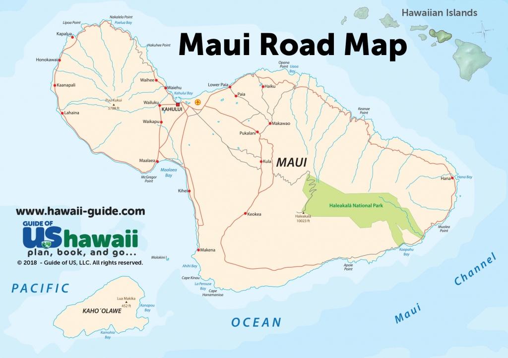 Maps Of Maui Hawaii - Maui Road Map Printable