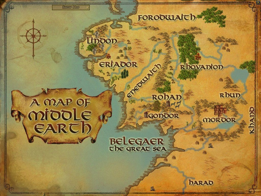 Maps Of Middle Earth | Middle Earth Printable Map | Lord Of The - Printable Hobbit Map
