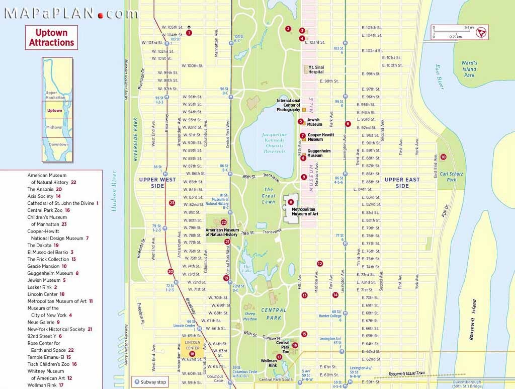 Maps Of New York Top Tourist Attractions - Free, Printable - Map Of Midtown Manhattan Printable