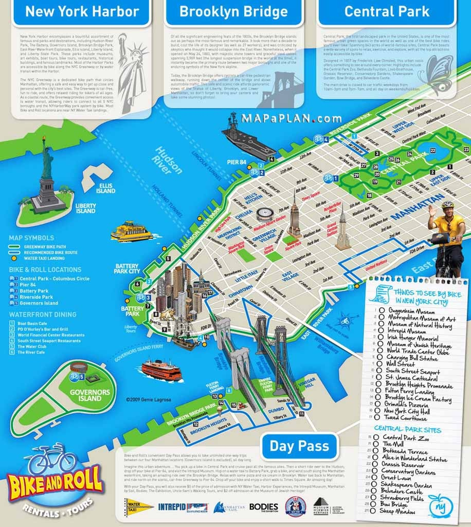 Maps Of New York Top Tourist Attractions - Free, Printable - Map Of New York Attractions Printable