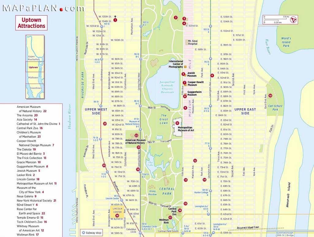 Maps Of New York Top Tourist Attractions - Free, Printable - New York City Street Map Printable