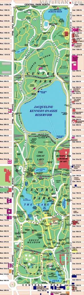 Maps Of New York Top Tourist Attractions - Free, Printable - Printable Map Of Central Park