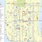 Maps Of New York Top Tourist Attractions - Free, Printable - Printable Map Of Manhattan Ny