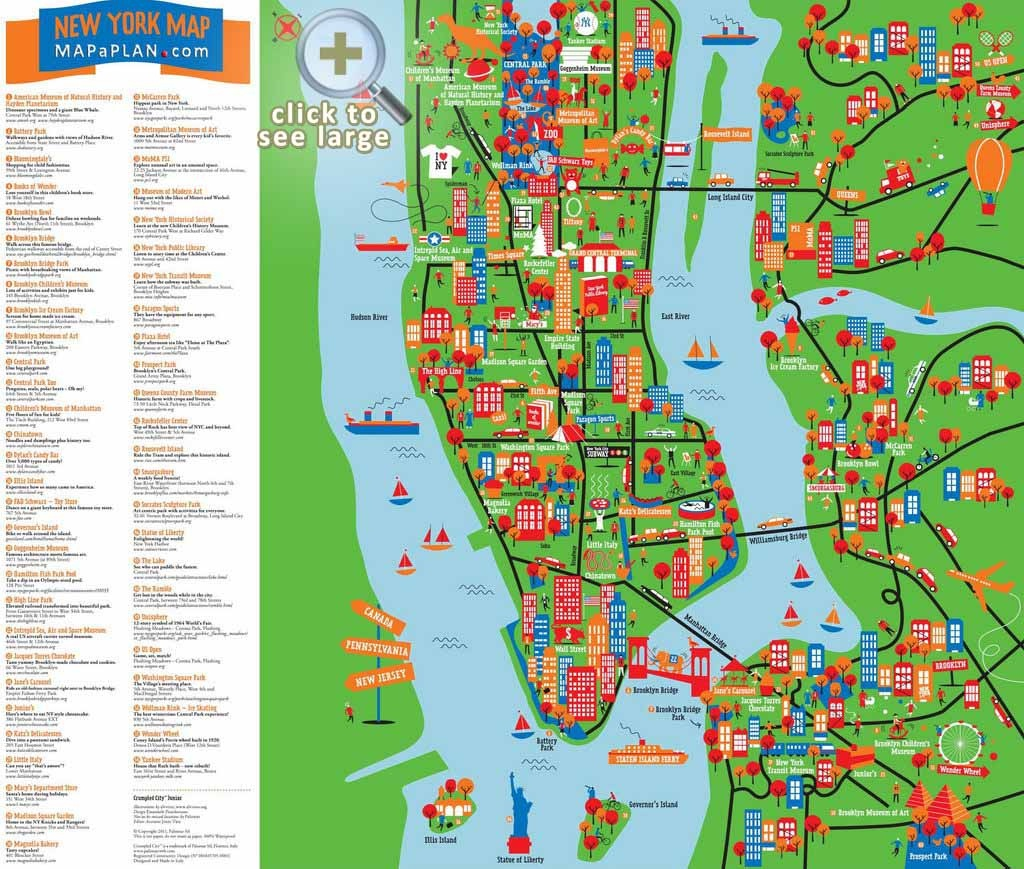 Maps Of New York Top Tourist Attractions - Free, Printable - Printable Map Of New York City Tourist Attractions