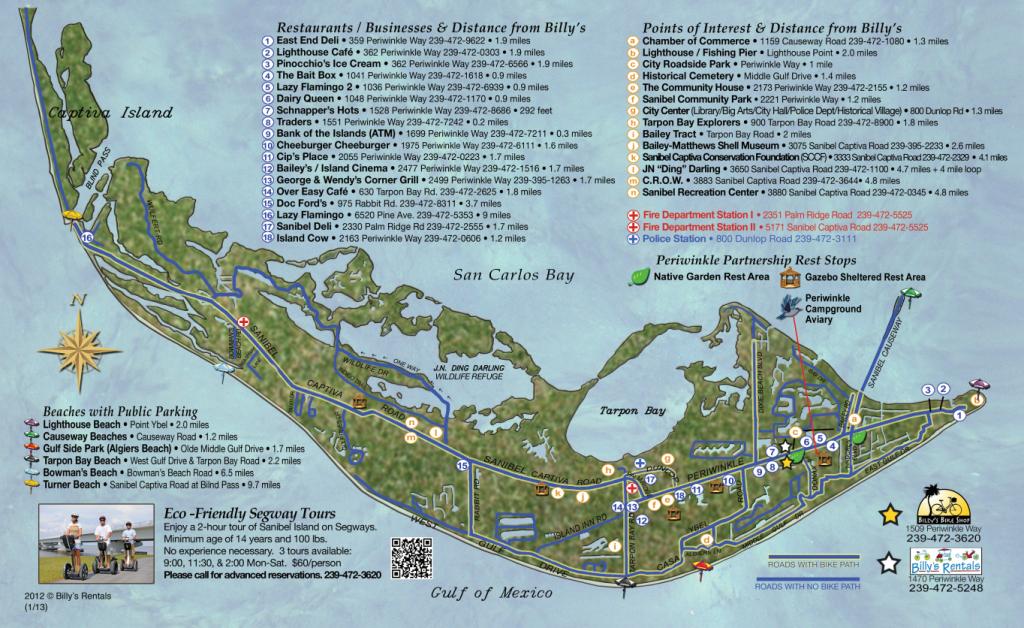 Maps Of Sanibel Island | Sanibel Map | Favorite Places & Spaces - Road Map Of Sanibel Island Florida