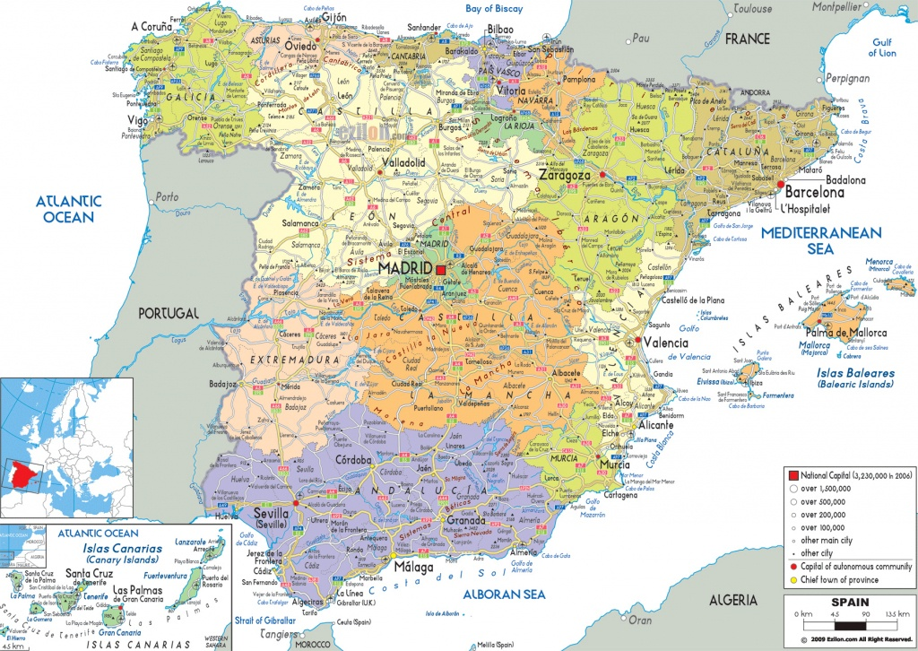 Maps Of Spain | Detailed Map Of Spain In English | Tourist Map (Map - Printable Map Of Spain With Cities