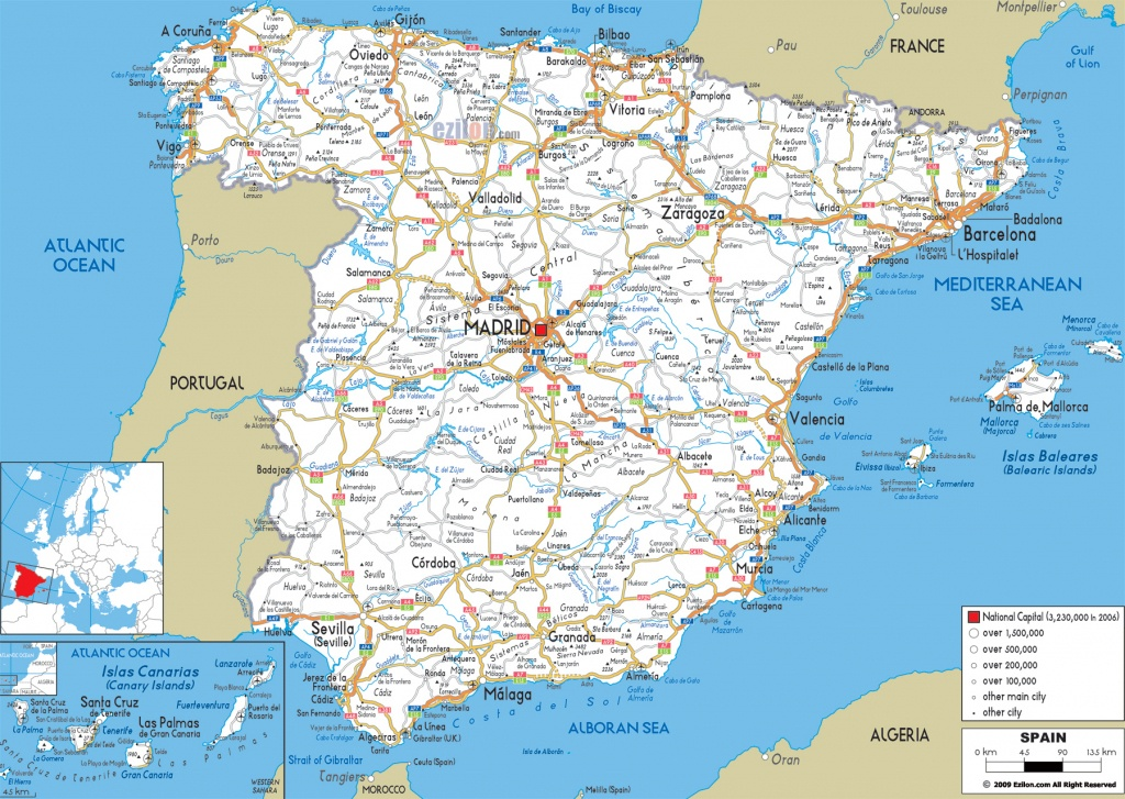 Maps Of Spain | Detailed Map Of Spain In English | Tourist Map (Map - Printable Map Of Spain