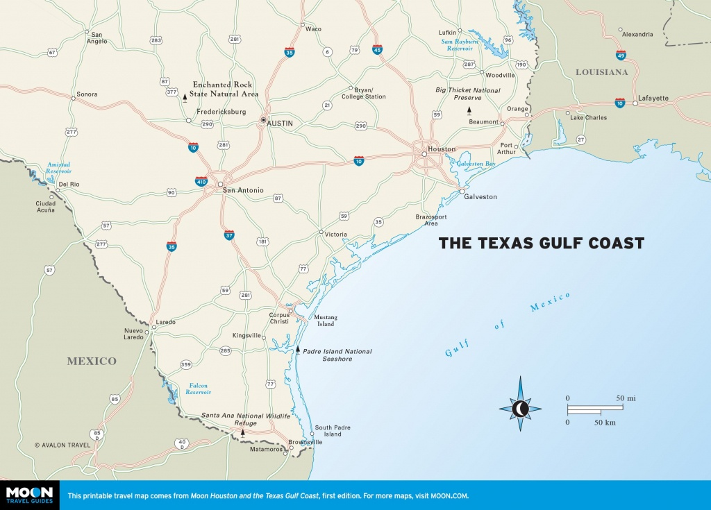 Maps Of Texas Gulf Coast And Travel Information | Download Free Maps - Texas Gulf Coast Beaches Map
