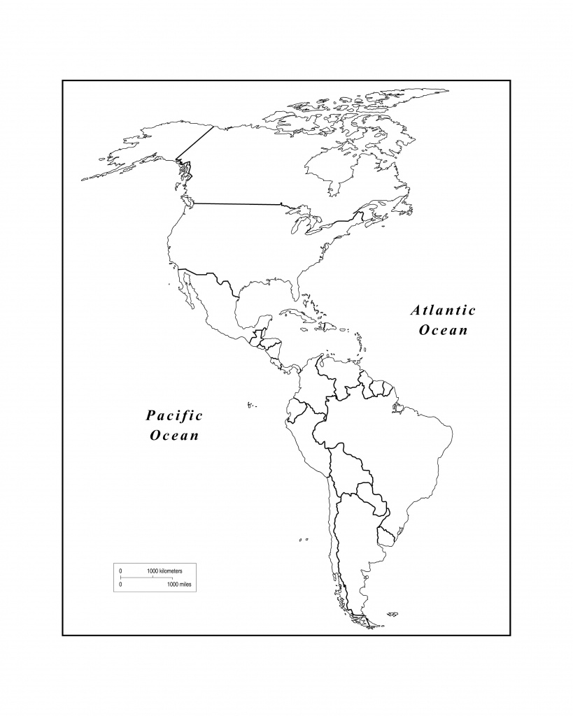 Maps Of The Americas Page 2 Within Blank Map Of The Americas - Western Hemisphere Map Printable