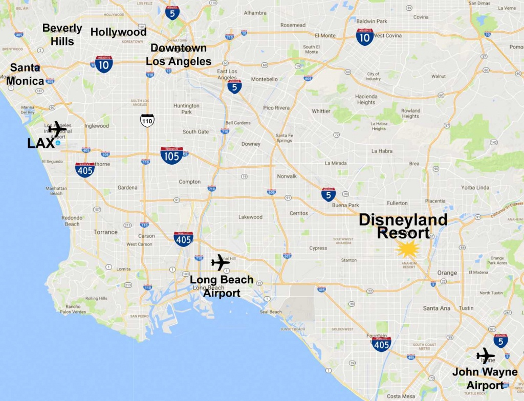 Maps Of The Disneyland Resort - Southern California Theme Parks Map