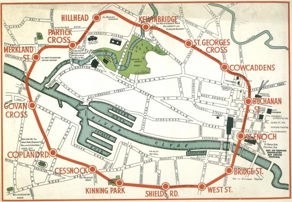 Maps Of The Glasgow Subway - Glasgow City Map Printable
