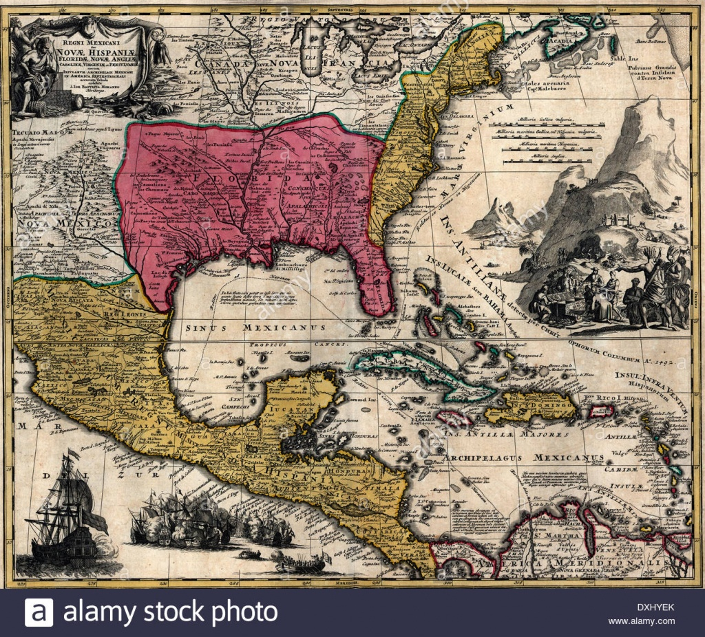 Maps Of The Kingdom Of New Spain Or Mexico, Florida, New England - Mexico Florida Map