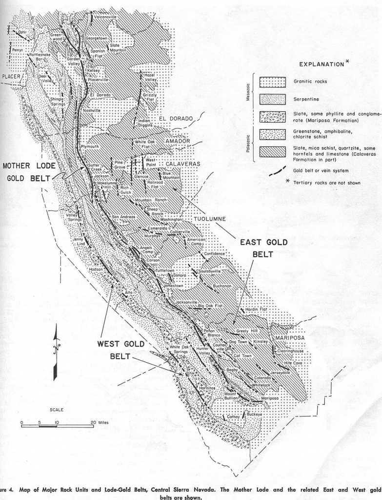 Maps Of The Mother Lode Area Within California: | Resources | Gold - California Gold Prospecting Map