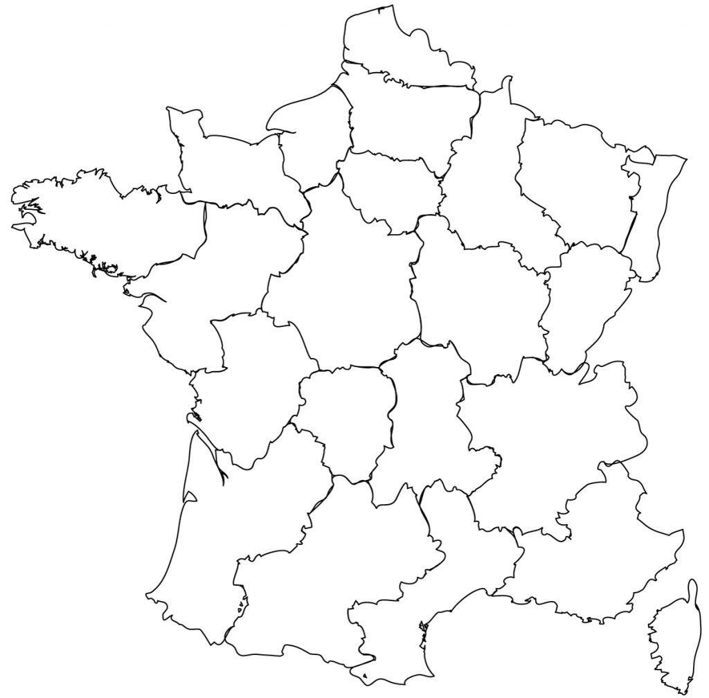 Maps Of The Regions Of France - Map Of France Outline Printable