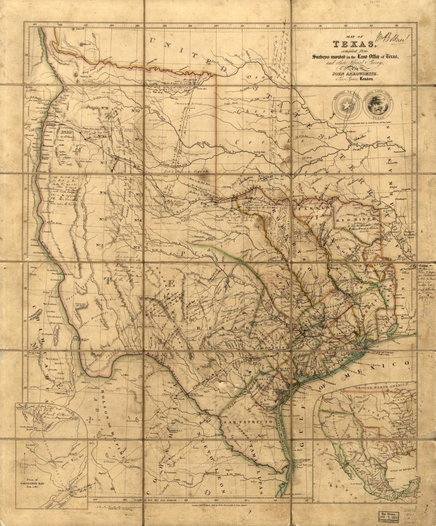 Maps Of The Republic Of Texas - Civil War In Texas Map