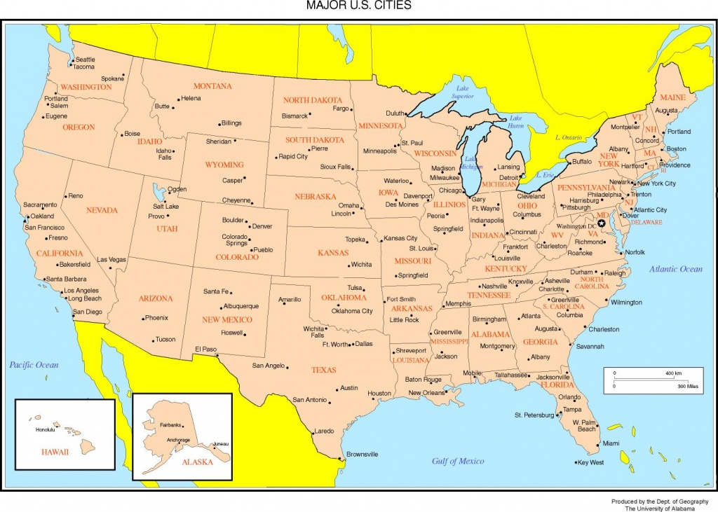 Maps Of The United States - Printable Us Map With Major Cities