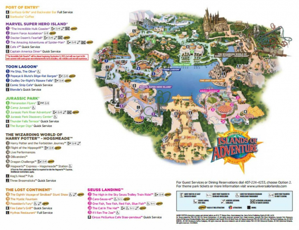 Maps Of Universal Orlando Resort's Parks And Hotels - Universal Studios Florida Map 2017
