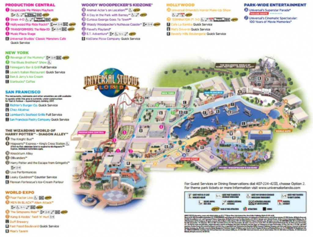 Maps Of Universal Orlando Resort's Parks And Hotels - Universal Studios Florida Park Map