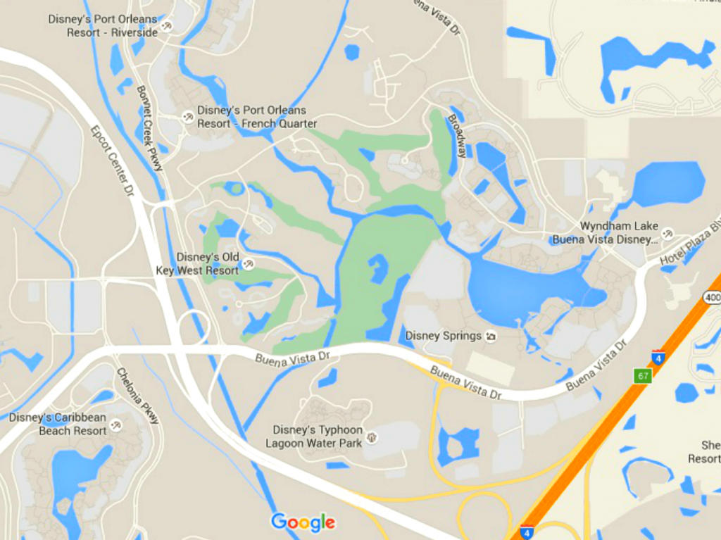 Maps Of Walt Disney World's Parks And Resorts - Florida Parks Map