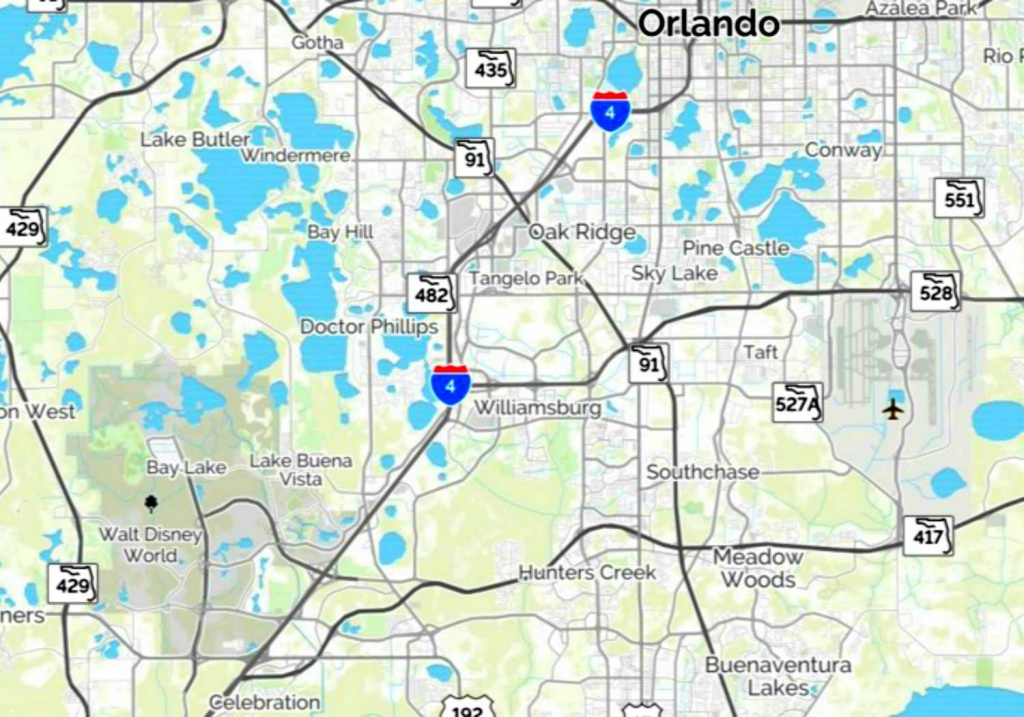 Maps Of Walt Disney World's Parks And Resorts - Orlando Florida Parks Map