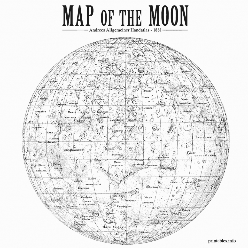Maps/ On Printables - Printable Moon Map
