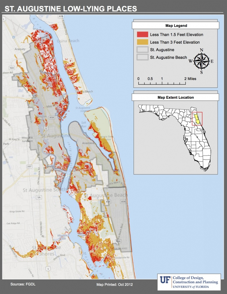 Maps | Planning For Sea Level Rise In The Matanzas Basin - Florida Elevation Map Above Sea Level