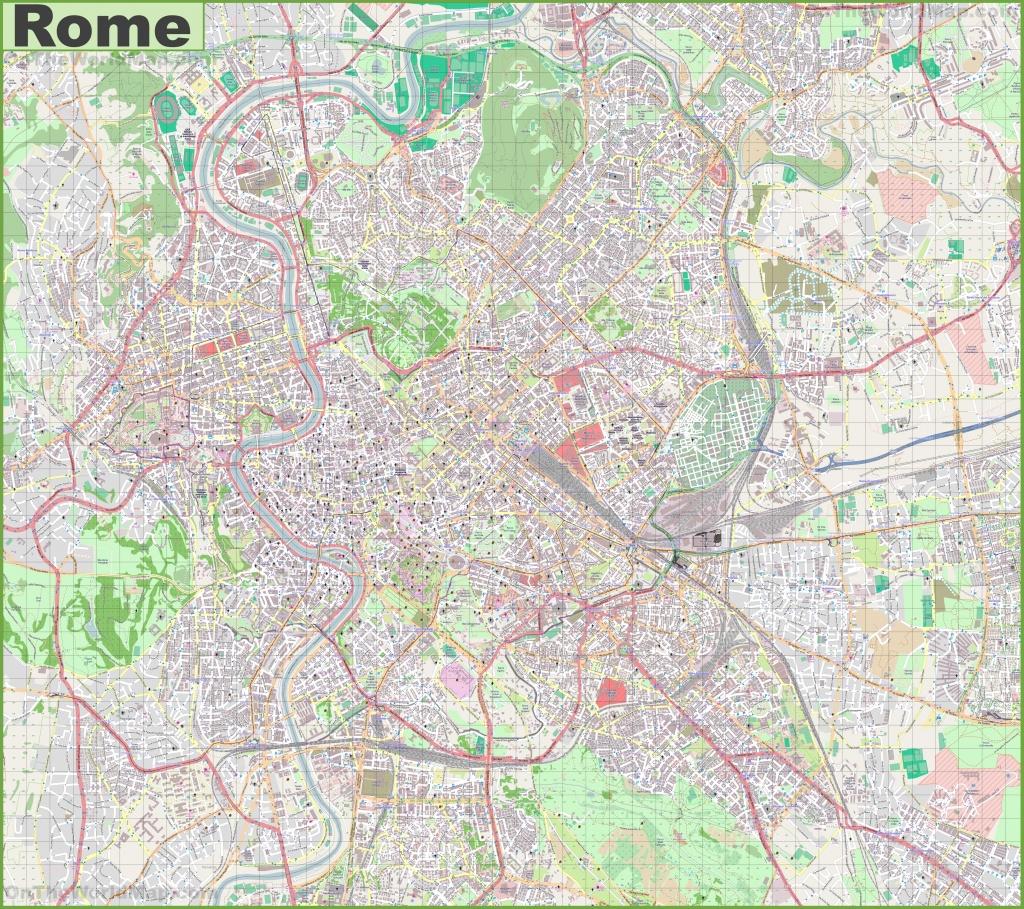 Maps. Street Map Of Rome Italy - Diamant-Ltd - Street Map Rome City Centre Printable
