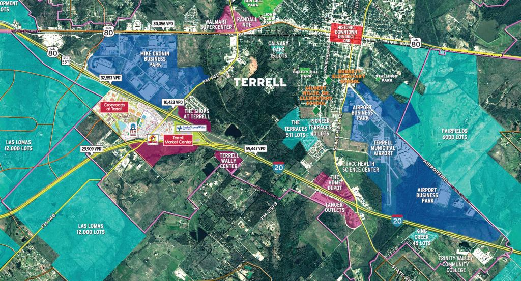 Maps | Terrell, Texas Economic Development Corporation - Terrell Texas Map