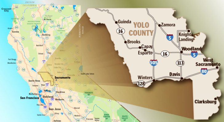 Davis California Map