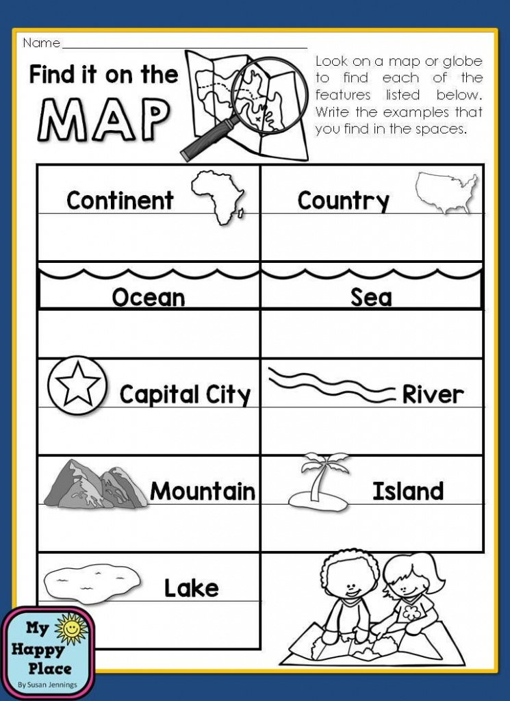 Maps Unit With Powerpoint And Printables (Geography - Map Symbols For Kids Printables