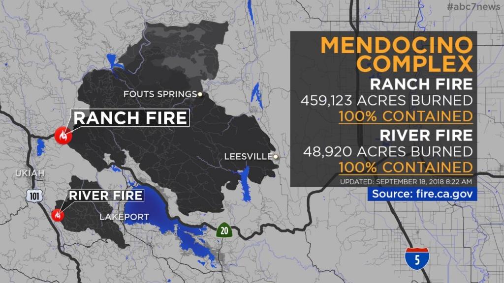 Maps: Wildfires Burning Across California | Abc7News - California Fire Damage Map