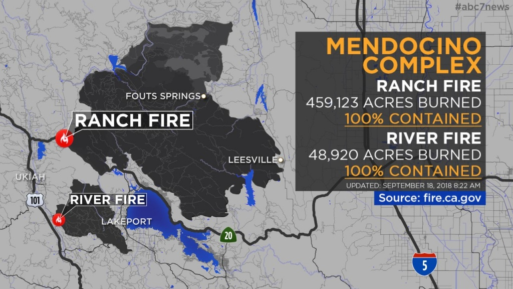 Maps: Wildfires Burning Across California | Abc7News - Map Of California Fire Damage