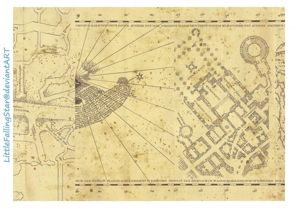 Marauders Map Page 3Littlefallingstar.deviantart On - Harry Potter Map Marauders Free Printable