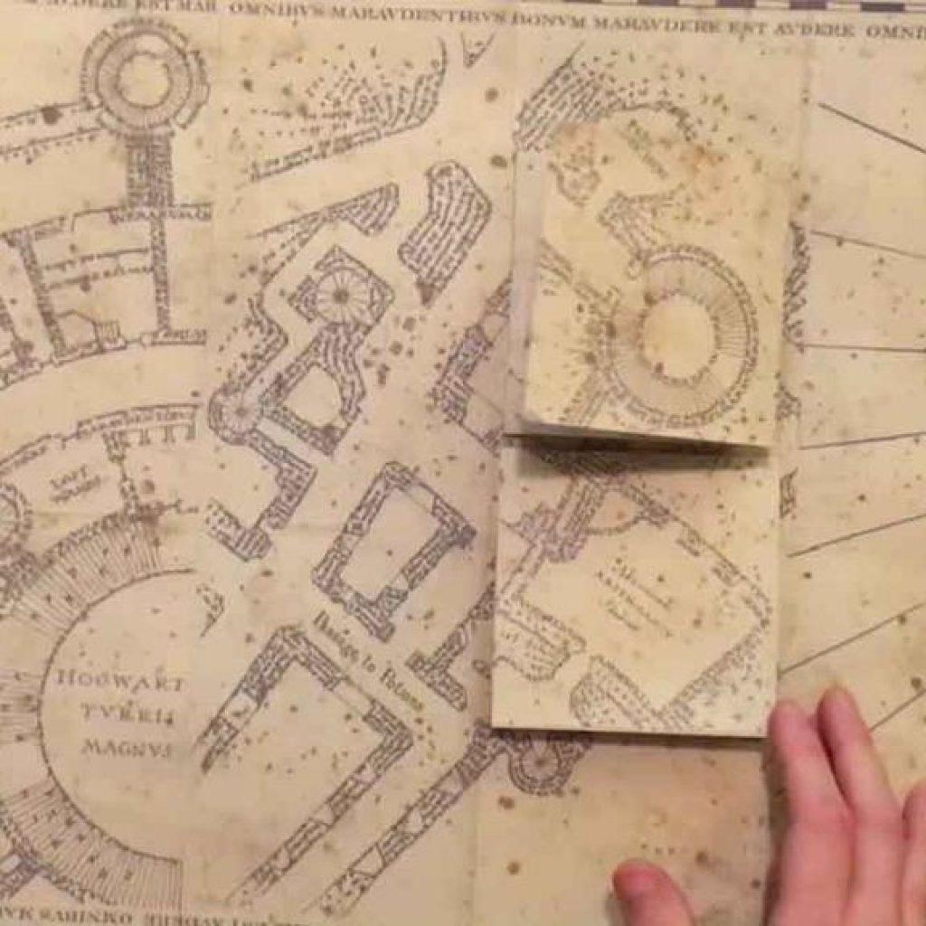 Marauders Map Printable Marauder S Full Size Replica 8 Steps With - Marauder's Map Replica Printable