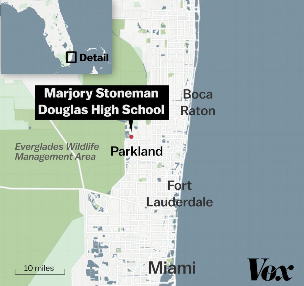 Marjory Stoneman Douglas High School Shooting In Florida: What We - Parkland Florida Map
