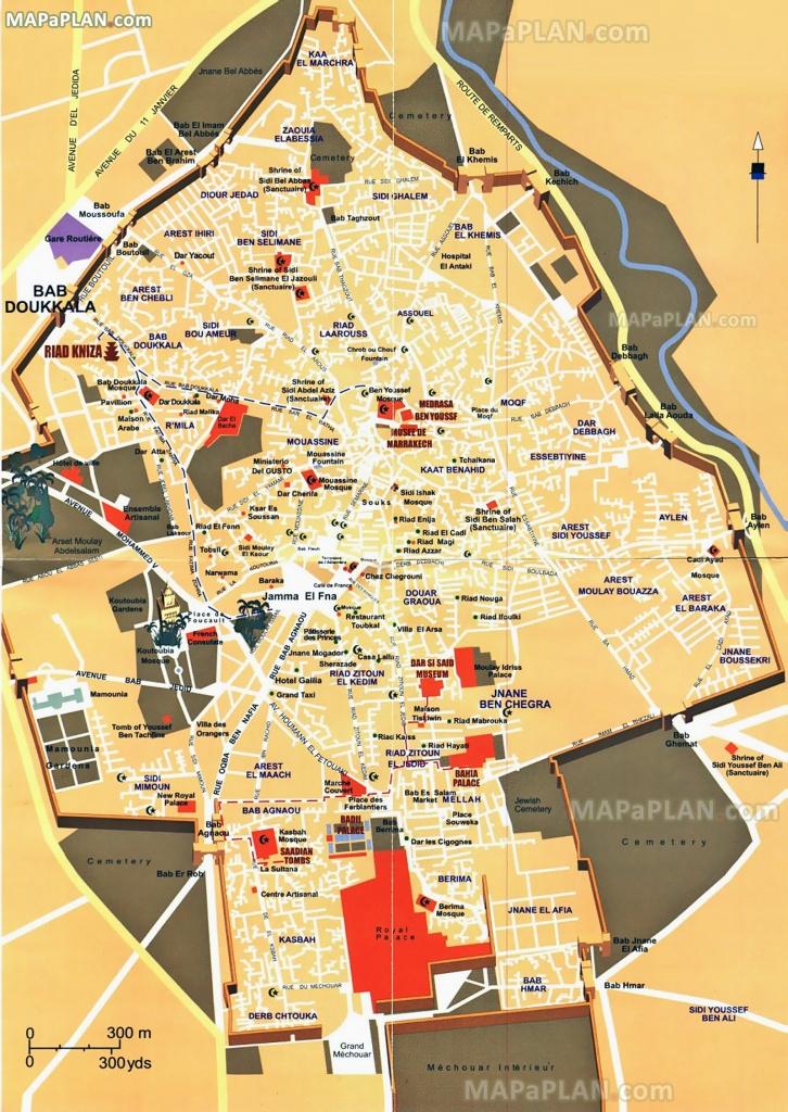 Marrakech Tourist Map Printable