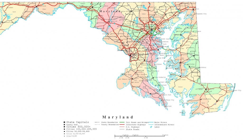 Maryland County Map Printable | Printable Maryland Map | Adorable In - Printable Map Of Annapolis Md