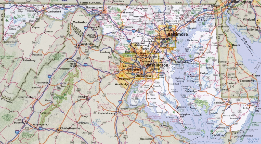 Maryland State Maps | Usa | Maps Of Maryland (Md) - Printable Map Of Maryland