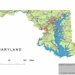 Maryland State Route Network Map. Maryland Highways Map. Cities Of   Printable Map Of Maryland