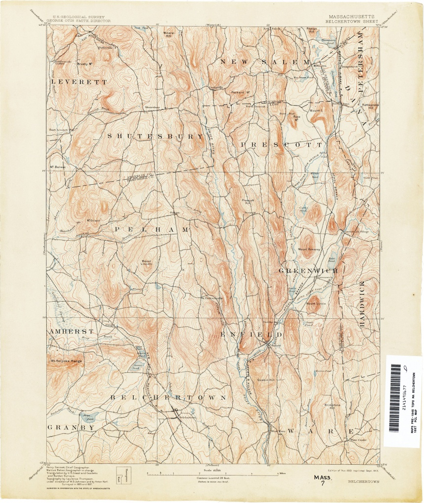 Massachusetts Historical Topographic Maps - Perry-Castañeda Map - Printable Map Of Falmouth Ma