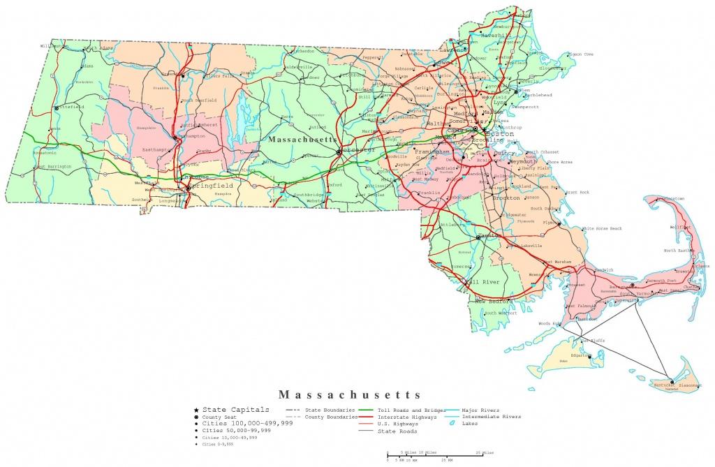 Massachusetts Map - Online Maps Of Massachusetts State - Printable Map Of Massachusetts Towns