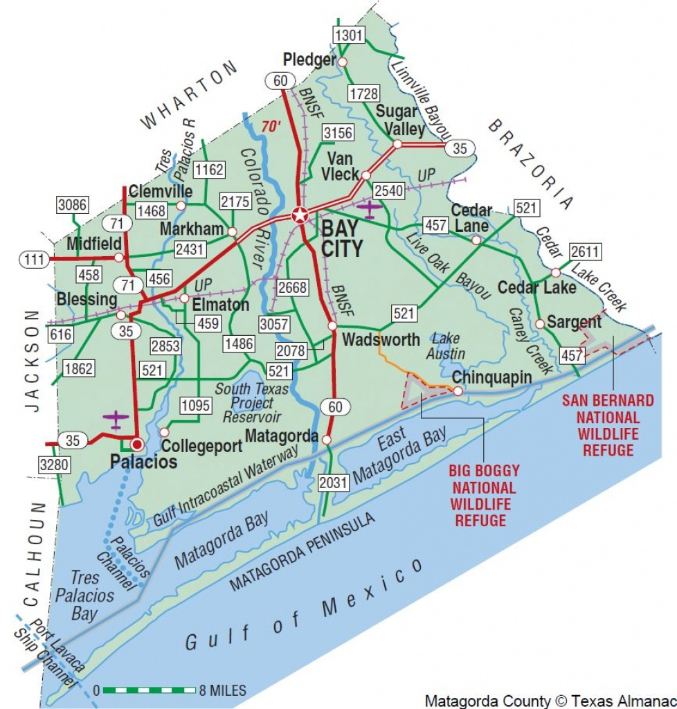 Matagorda County | The Handbook Of Texas Online| Texas State - Map Of Matagorda County Texas