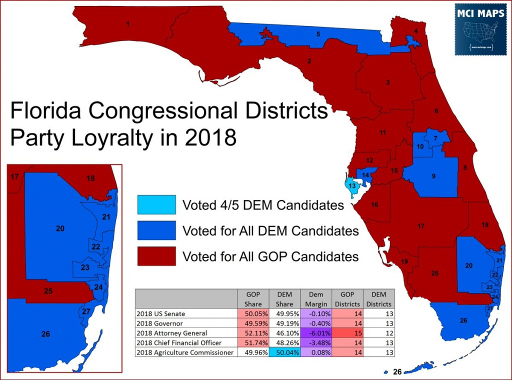 "Matthew Isbell On Twitter: ""article And Plenty Of Maps Looking At - Florida Congressional Districts Map 2018"